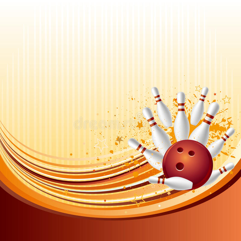 fundo do bowling ilustração royalty free