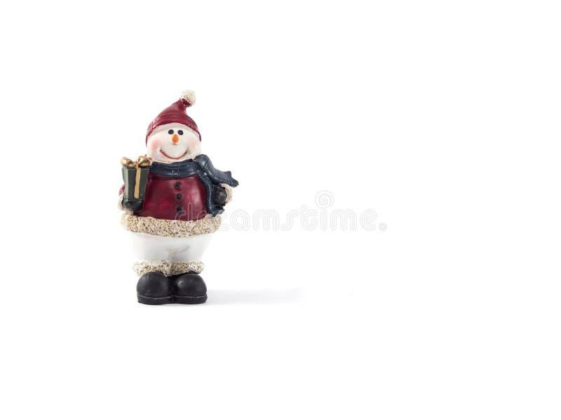 Fundo do branco de Santa do boneco de neve imagens de stock royalty free
