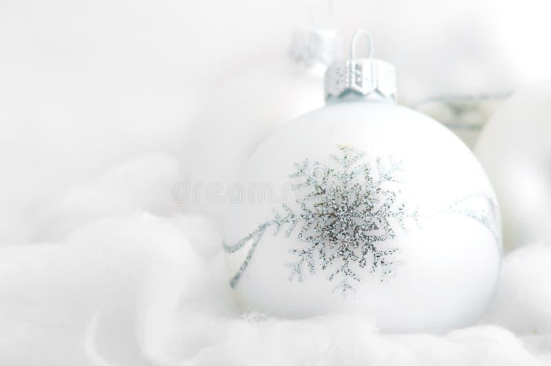 Fundo do branco do Natal foto de stock royalty free