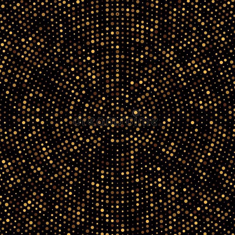 fundo do brilho do disco do ouro ilustração do vetor