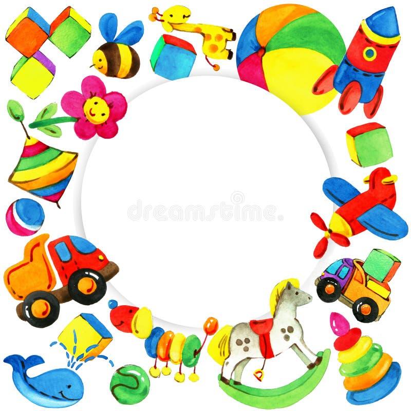 Fundo do brinquedo para crianças ilustração royalty free