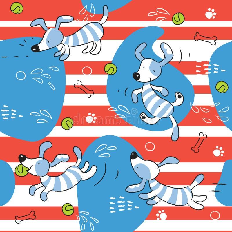 Fundo do cão do bebê ilustração do vetor