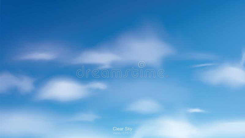 Fundo do céu azul com nuvens brancas Céu abstrato para o fundo natural ilustração royalty free