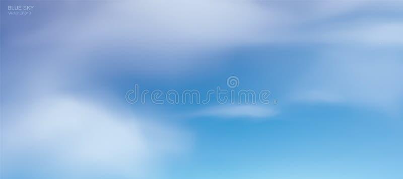 Fundo do céu azul com nuvens brancas Céu abstrato para o fundo natural ilustração do vetor
