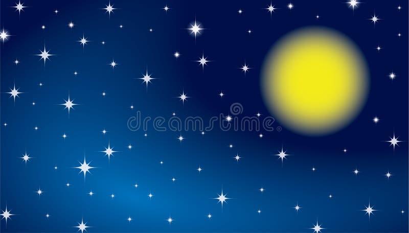 Fundo do céu da estrela ilustração stock