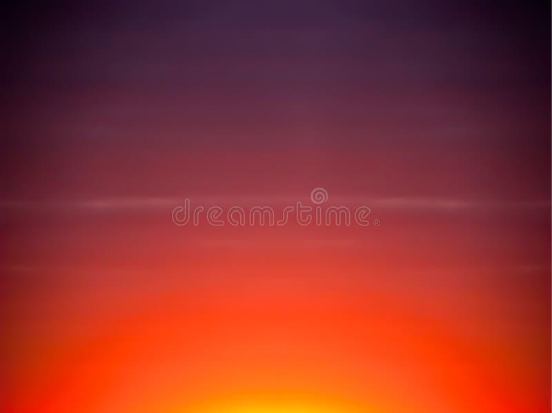 Fundo do céu do sumário do por do sol do nascer do sol, cores foto de stock