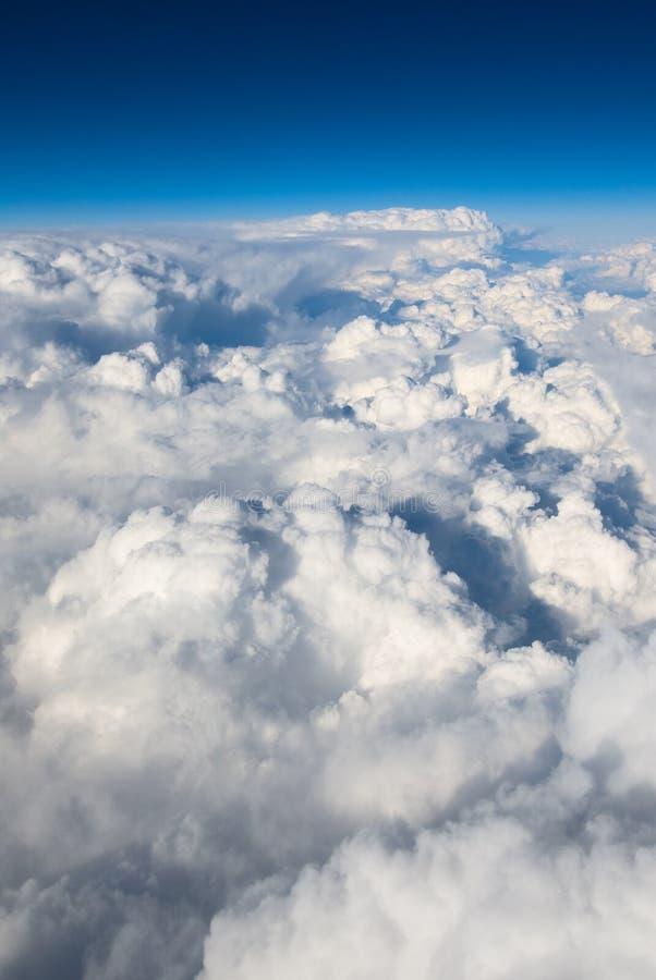 Fundo do céu nebuloso fotografia de stock