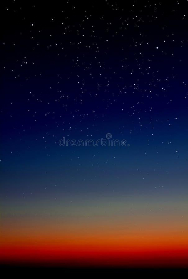 Fundo do céu nocturno fotografia de stock