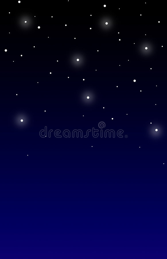 Fundo do céu nocturno ilustração stock