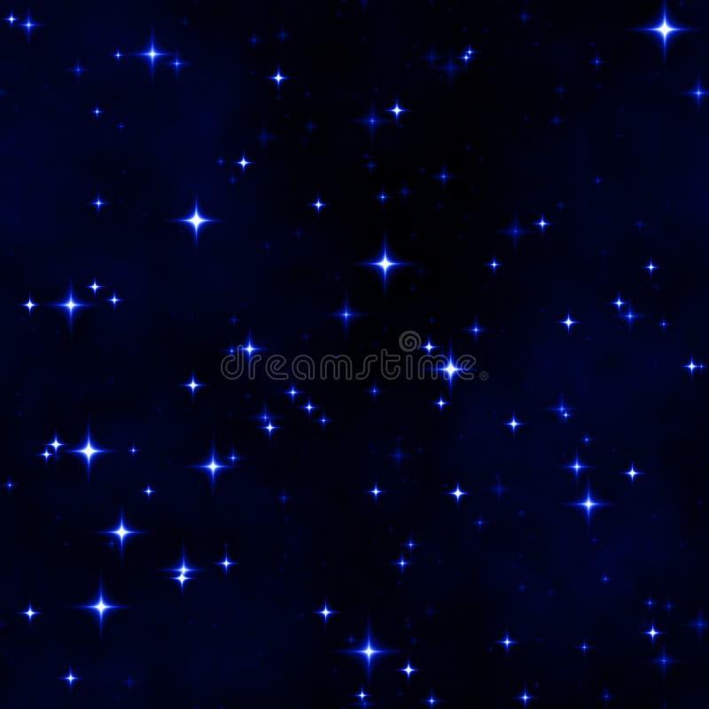Fundo do céu nocturno da estrela ilustração royalty free
