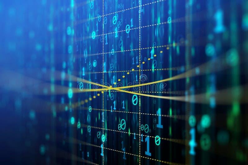 Fundo do código binário ilustração stock
