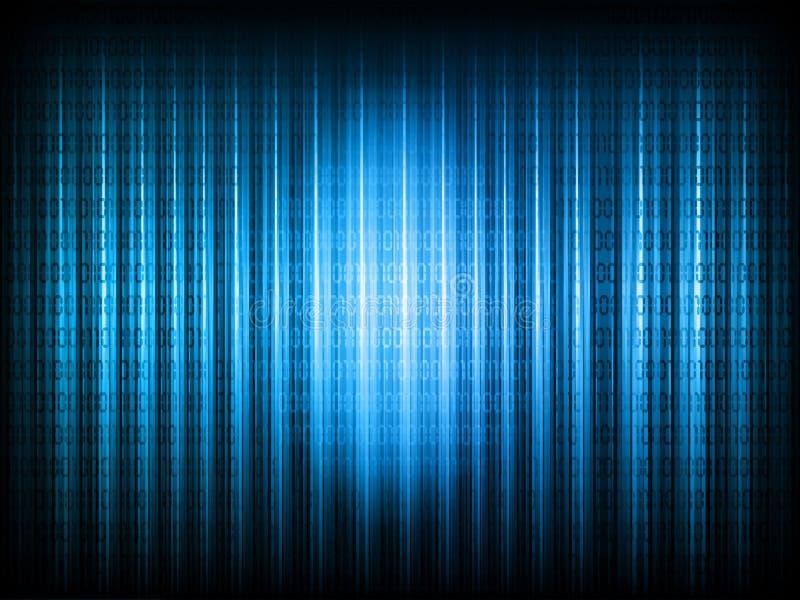 Fundo do código binário ilustração do vetor