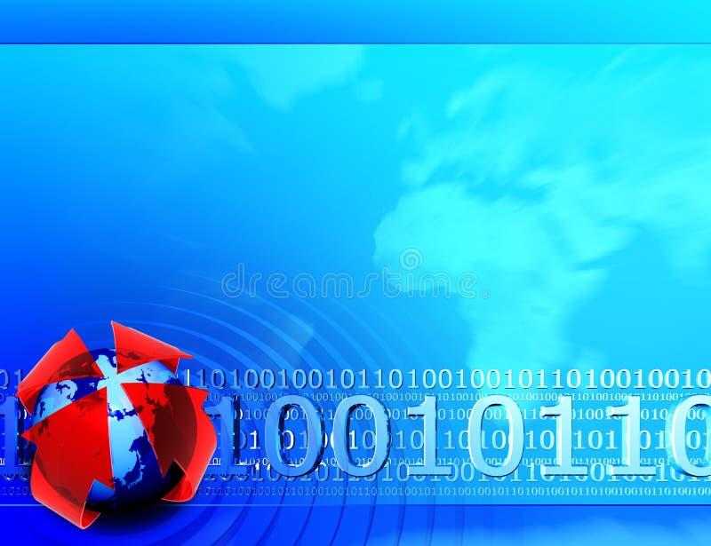 Fundo do código binário imagens de stock