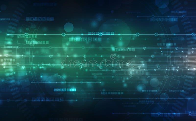 Fundo do código binário, fundo abstrato da tecnologia de Digitas, fundo futurista imagens de stock royalty free