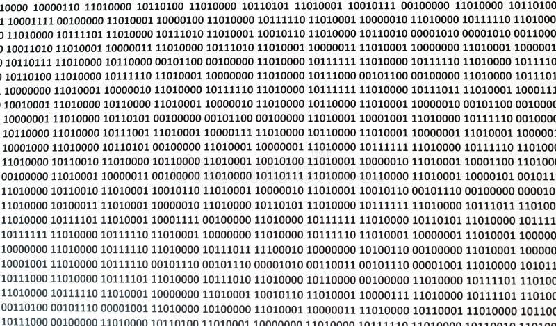 Fundo do código binário Código binário, binário do algoritmo, código de dados fotos de stock