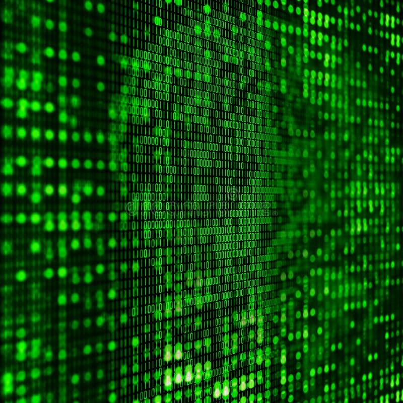 fundo do código 3D binário ilustração do vetor