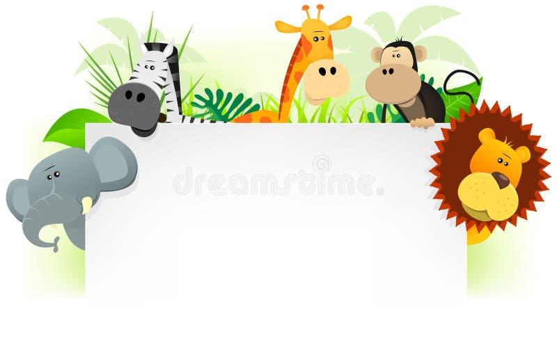 Fundo do cabeçalho dos animais selvagens ilustração do vetor