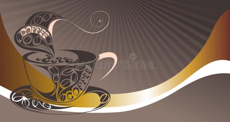 Fundo do café do vetor para sua promoção. ilustração do vetor