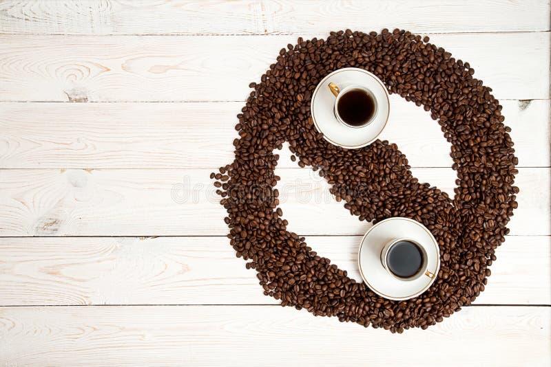 Fundo do café E fotografia de stock