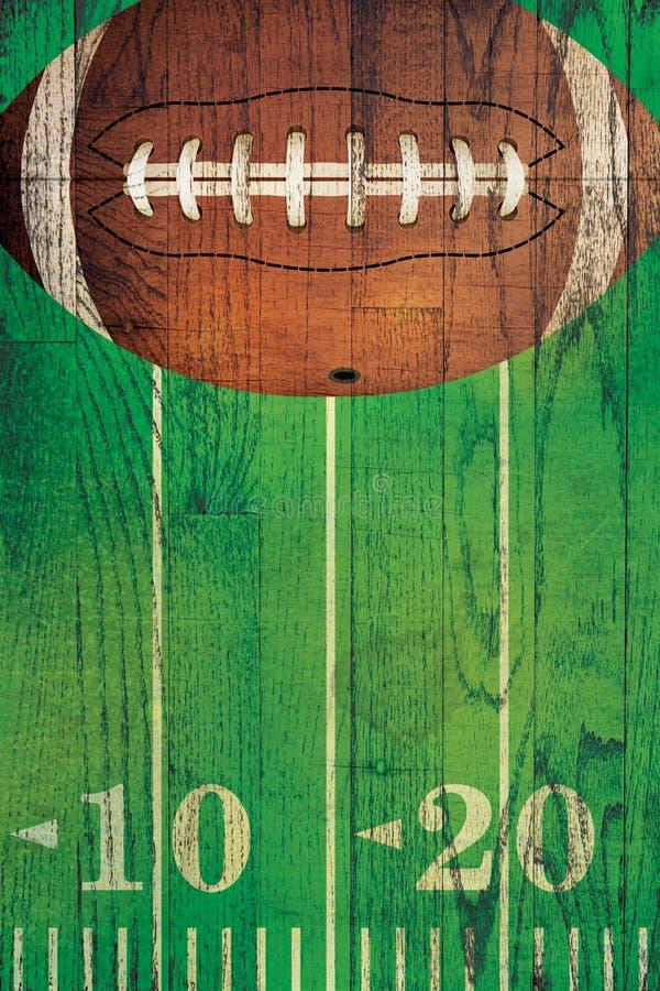 Fundo do campo de bola do futebol americano do vintage