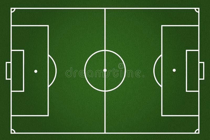 Fundo do campo de futebol ilustração stock