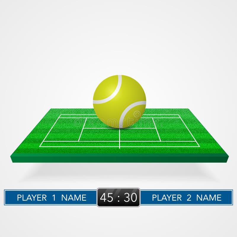 Fundo do campo de tênis ilustração royalty free