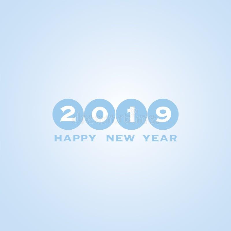 Fundo do cartão do ano novo - 2019 ilustração royalty free