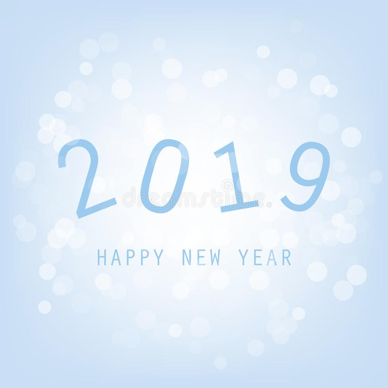 Fundo do cartão do ano novo - 2019 ilustração stock