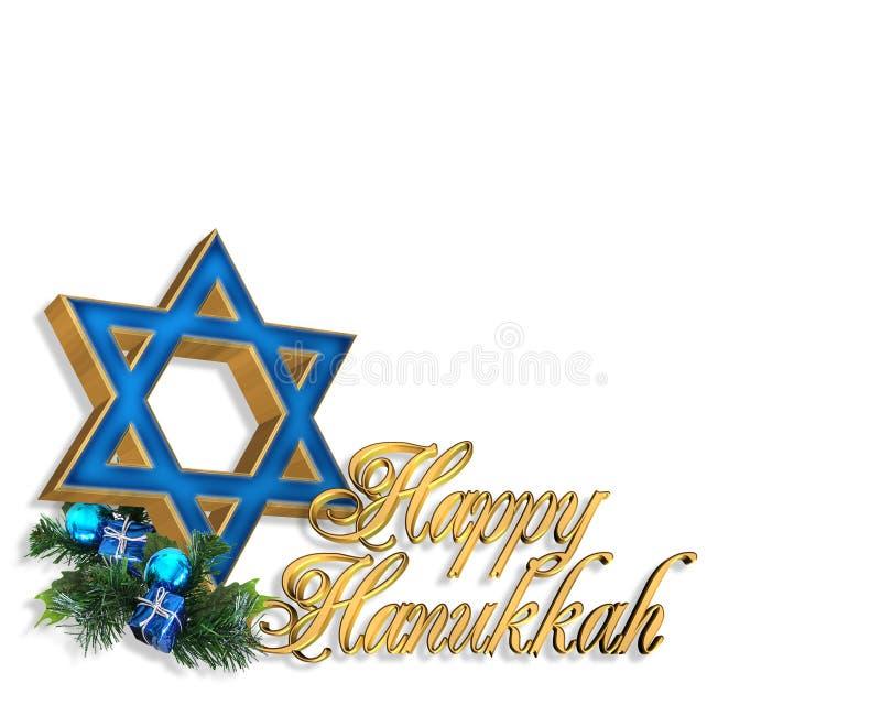 Fundo do cartão de Hanukkah ilustração royalty free