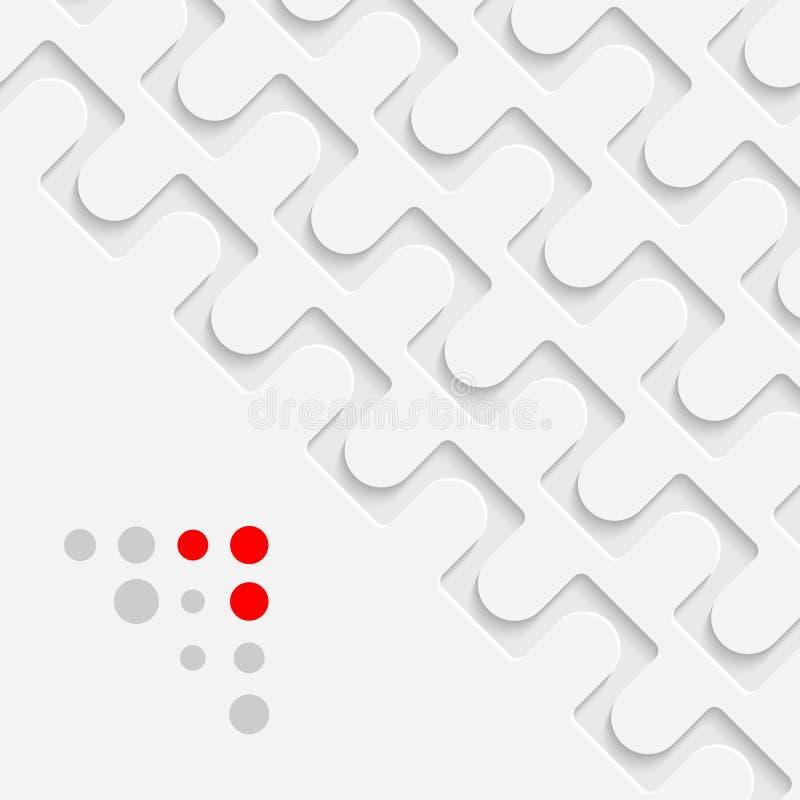 Fundo do cartão de Minimalistic Sagacidade do papel de parede da tecnologia do vetor ilustração stock