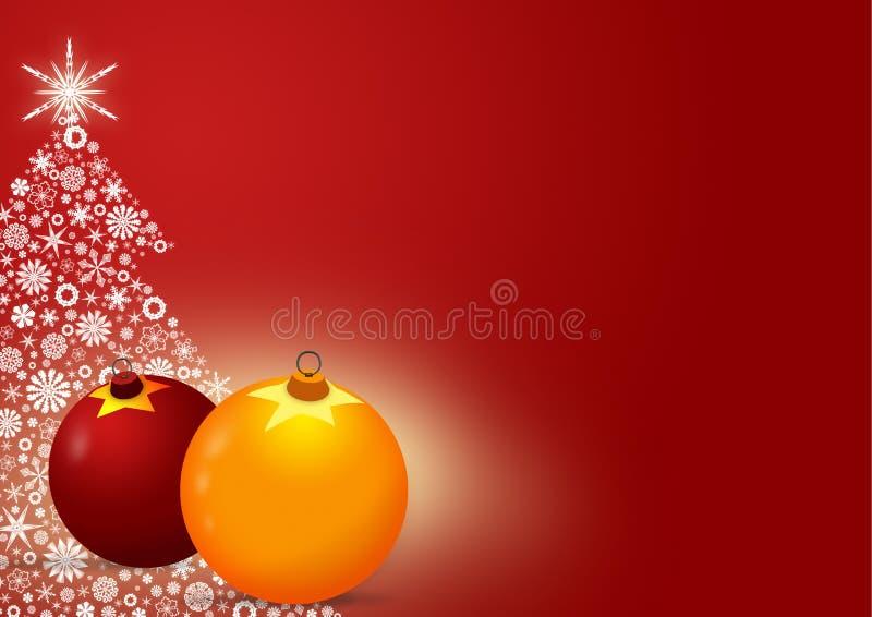 Fundo do cartão de Natal ilustração do vetor