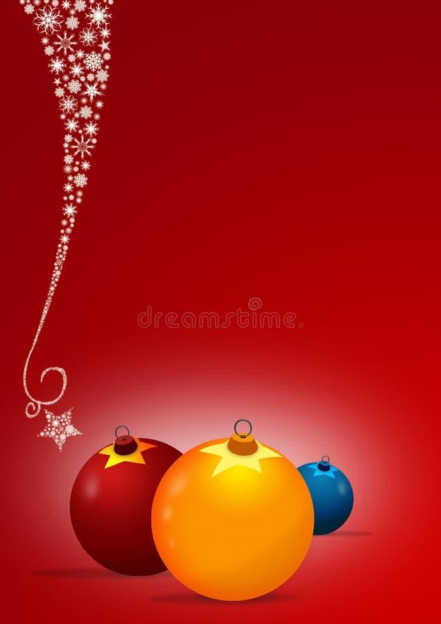 Fundo do cartão de Natal ilustração royalty free