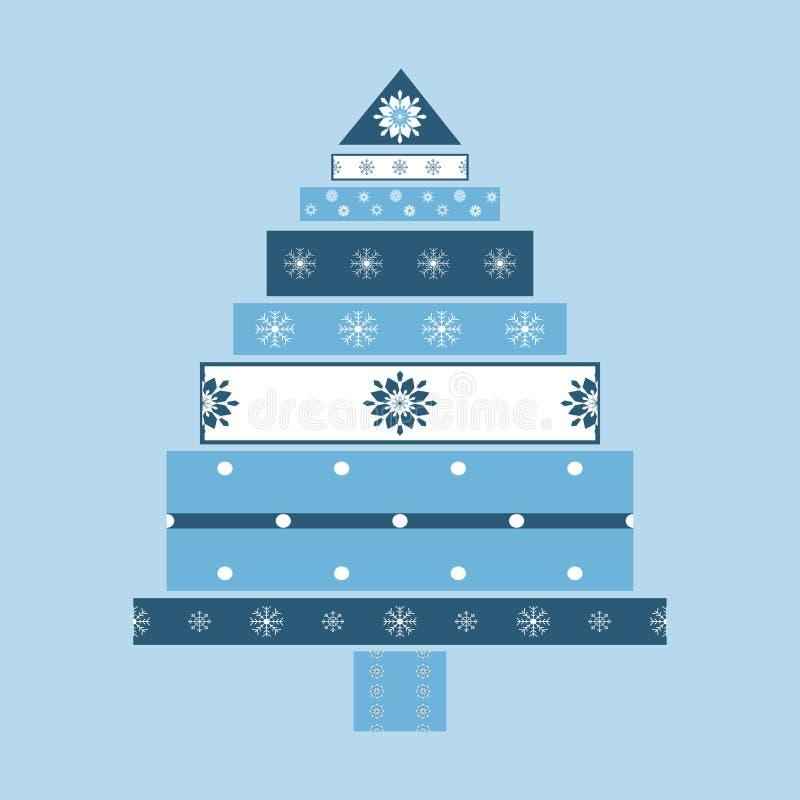 Fundo do cartão de presentes da árvore de Natal ilustração do vetor