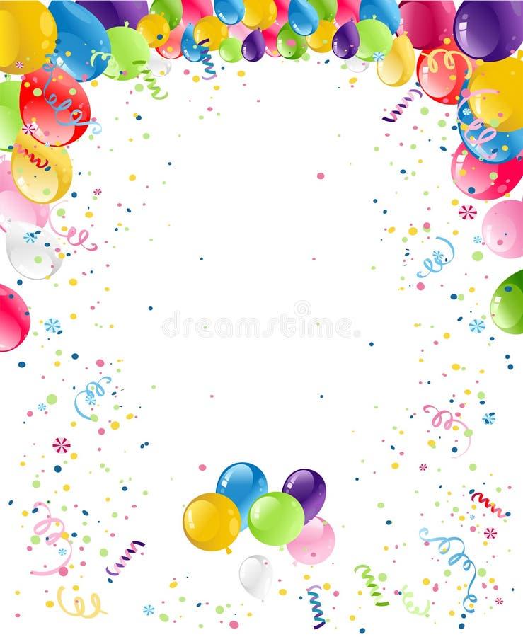 Fundo do cartão do feliz aniversario ilustração do vetor
