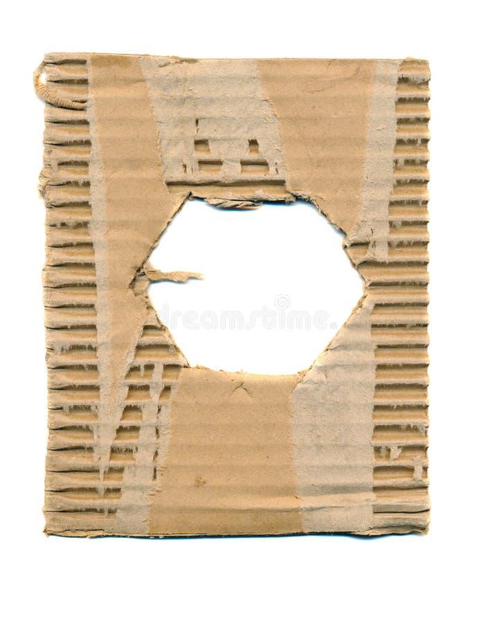 Fundo do cartão do pacote com furo fotografia de stock royalty free