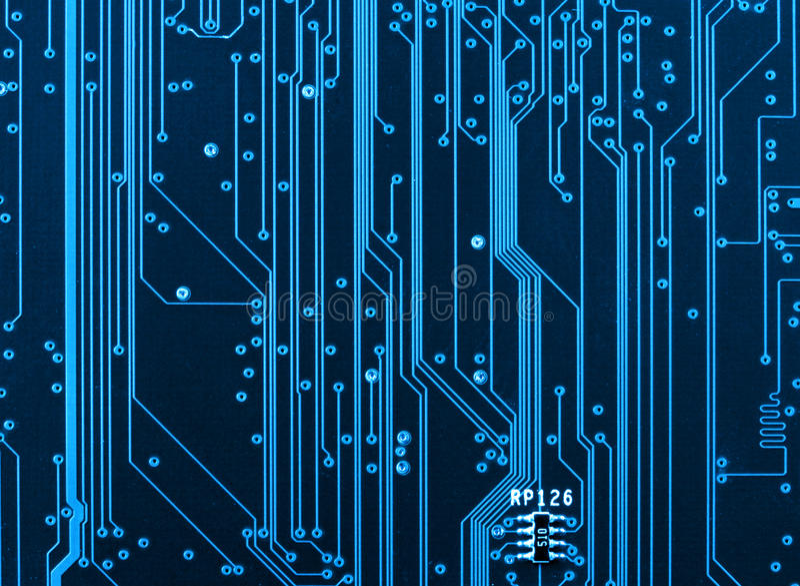 Close up da placa de circuito do computador foto de stock