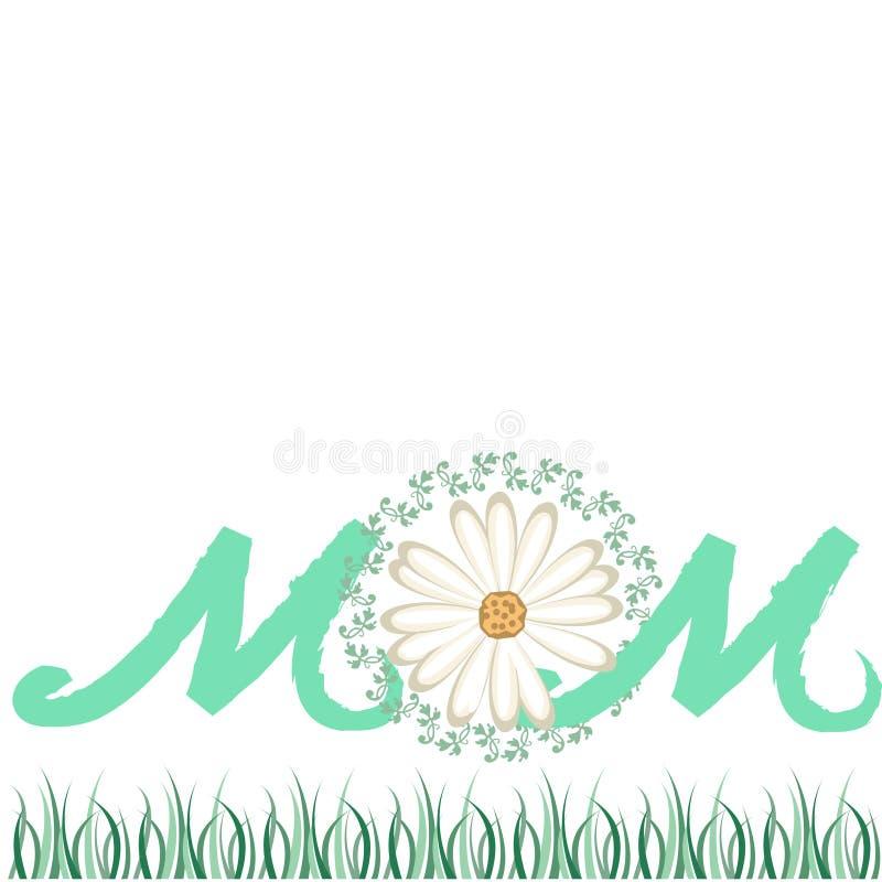 Fundo do cartão para o dia de mãe ilustração royalty free