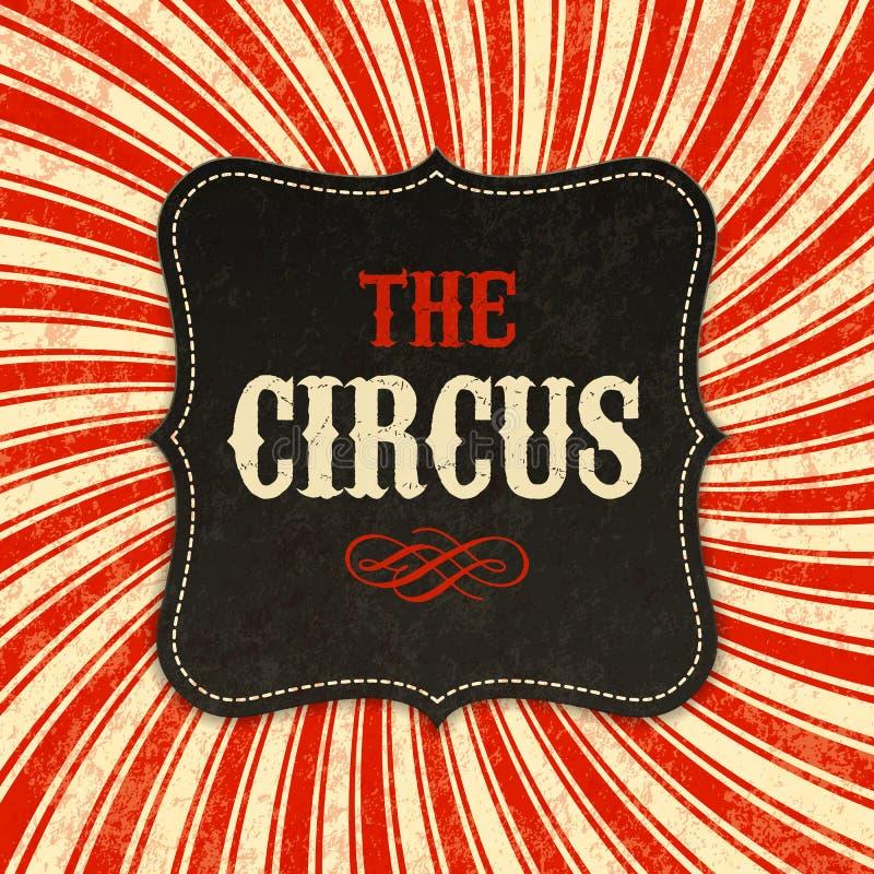 Fundo do cartaz do circo ilustração do vetor