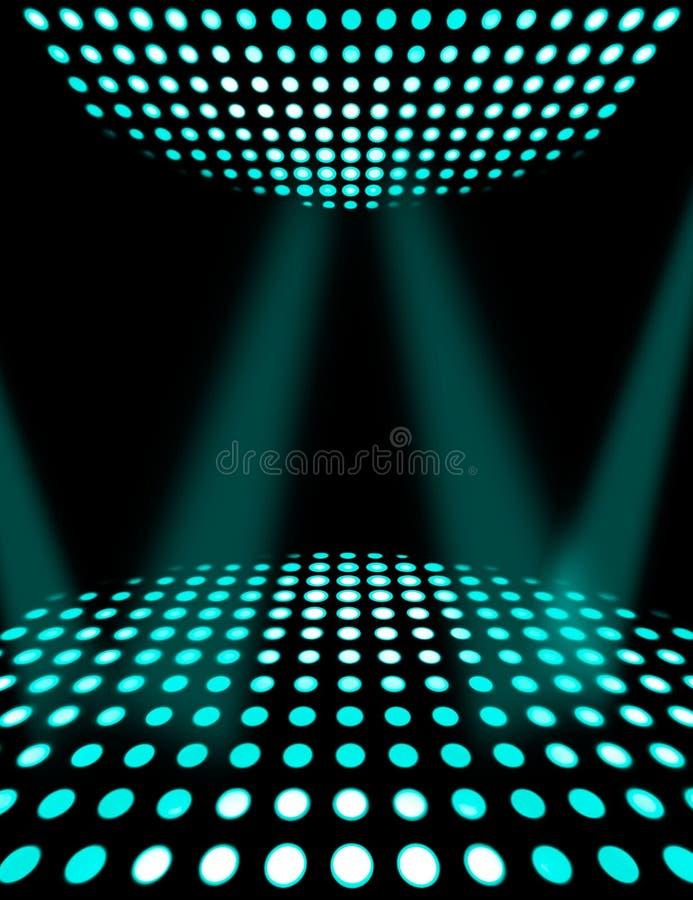 Fundo do cartaz do disco do salão de baile ilustração stock