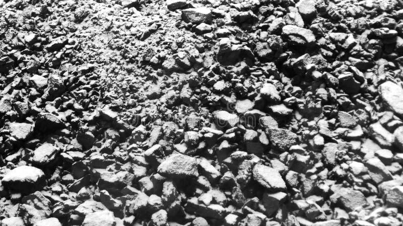 Fundo do carvão vegetal de pedra Carvão no inverno fotografia de stock royalty free