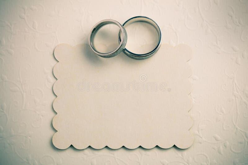 Fundo do casamento do vintage - convide o projeto de cartão imagem de stock