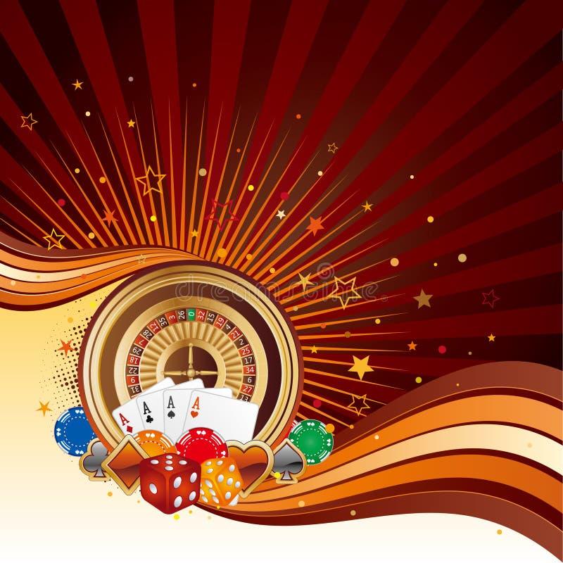 fundo do casino ilustração royalty free