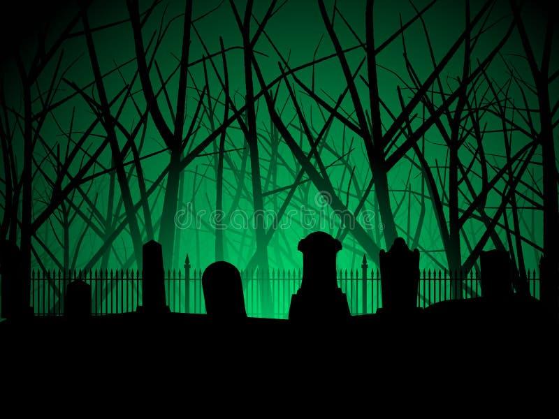Fundo do cemitério e das árvores