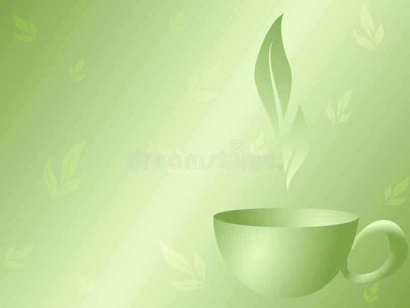 Fundo do chá verde ilustração do vetor