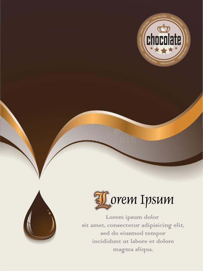 Fundo do chocolate doce ilustração stock