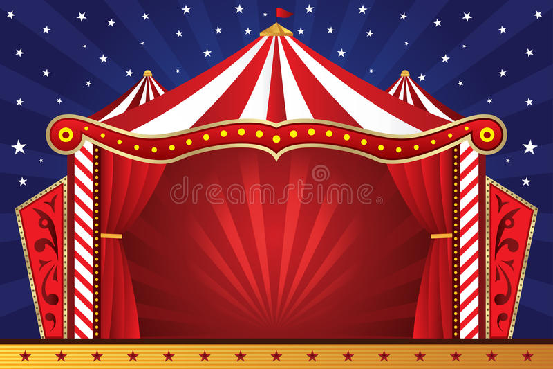 Fundo do circo ilustração stock