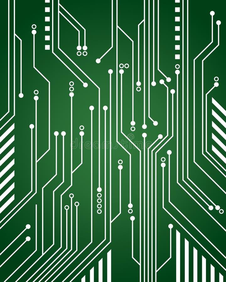 Fundo do circuito de computador ilustração stock