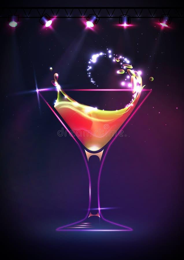 Fundo do cocktail do disco ilustração stock