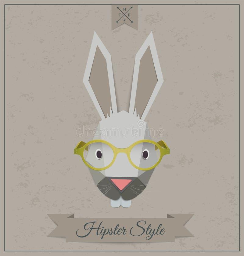Fundo do coelho do moderno no estilo retro ilustração stock