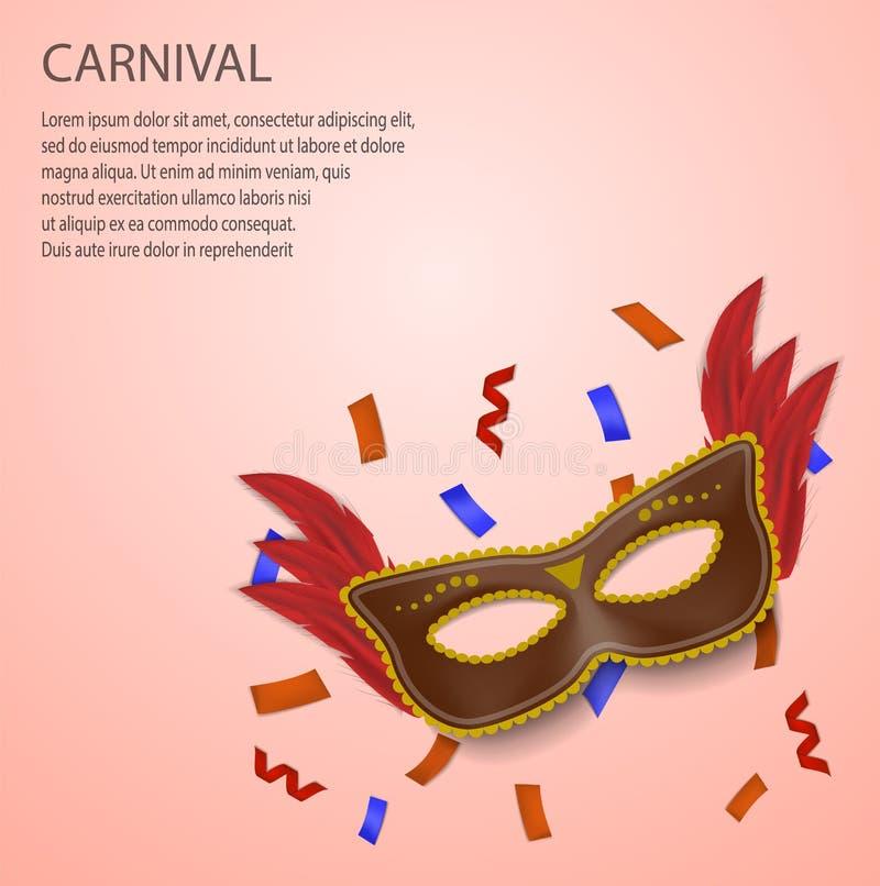 Fundo do conceito do carnaval, estilo realístico ilustração royalty free